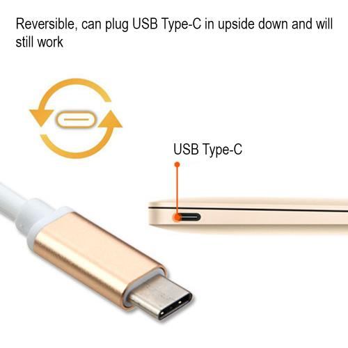 USB Type-C OTG Adapter (USB Type-C To USB Type-A Adapter) [Gold]