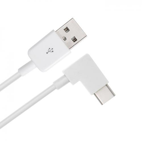 1M/ 3.3 ft USB 3.0 (Type A) Male to USB 3.1 C (Type C) Male 90 Degree Angle [White]