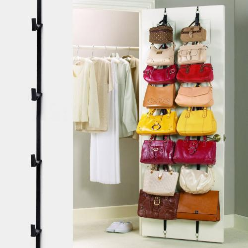 Adjustable Over Door Straps Hanger [Black]