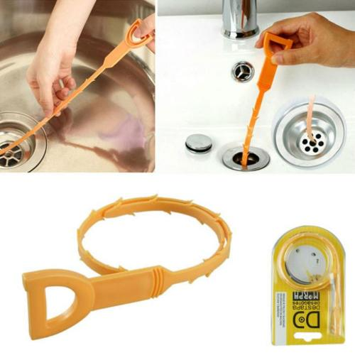 "Orange Snake Drain Cleaner, Hair Drain Clog Remover (20"")"