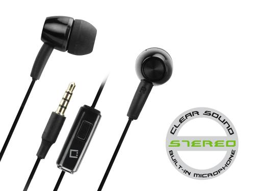 Cellet 3.5mm Hands Free Stereo Earphones w/ Microphone [Black]