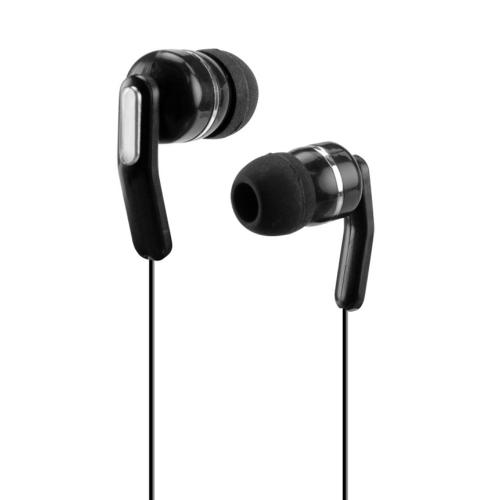 Black Retractable 3.5mm Stereo In-Ear Headphones