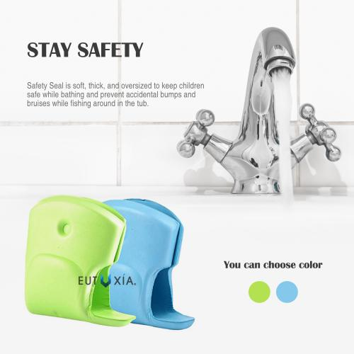 Water Faucet Protection, Soft EVA Foam Faucet Spout Protector [Green Elephant] - Perfect for Kids and Toddlers!
