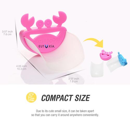 Eutuxia Water Spout & Faucet Extender for Kitchen and Bathroom Sinks. Perfect for Babies, Toddlers, Kids. Safe, Fun, and Easy Hand Washing Solution for Children. Unique & Cute Crab Design. [Pink]