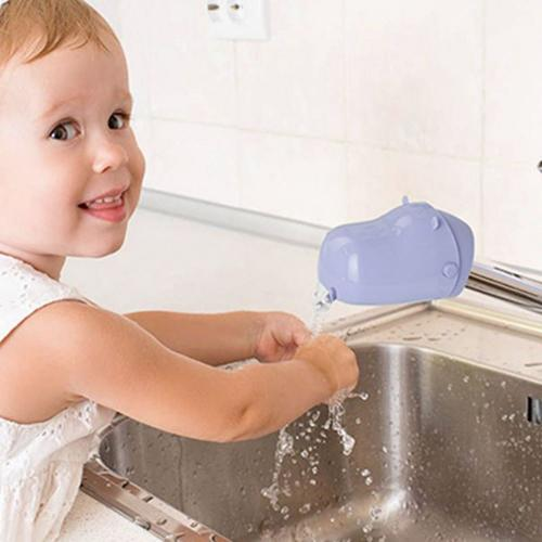Faucet Extender, [Periwinkle] Hippo Water Faucet Tap Extender For Kids - Makes Washing Hands Easy & Fun!