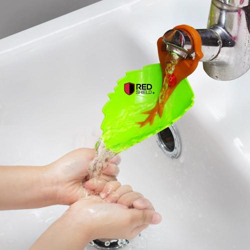 Eutuxia Water Spout & Faucet Extender for Kitchen and Bathroom Sinks. Perfect for Babies, Toddlers, Kids. Safe, Fun, and Easy Hand Washing Solution for Children. Unique & Cute Leaf Design. [Blue]