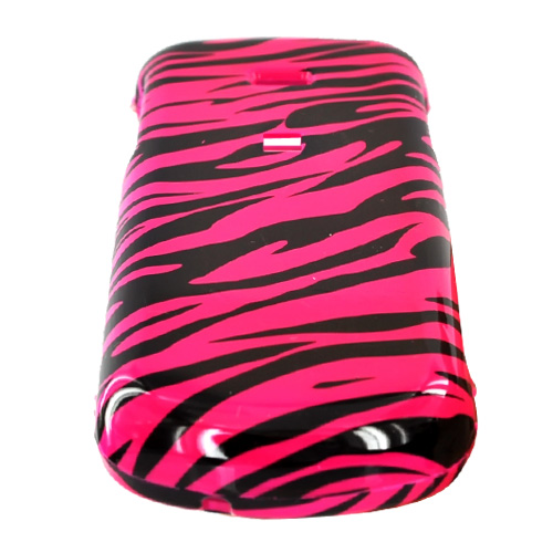 Samsung Stunt R100 Hard Case - Hot Pink/Black Zebra