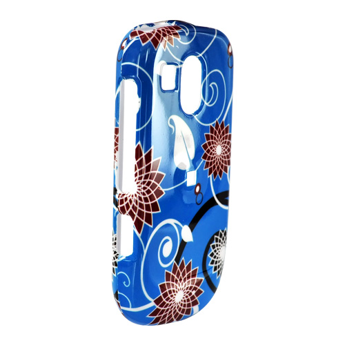 Samsung Caliber R860/R850 Hard Case - Red Flowers on Blue