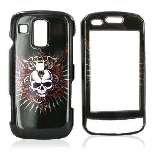 Samsung Rogue U960 Hard Case - Cross Skull on Black