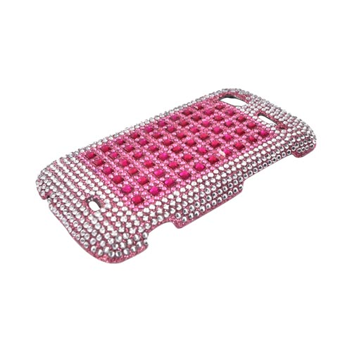 HTC Sensation 4G Bling Hard Case - Pink & Silver on Pink Gems