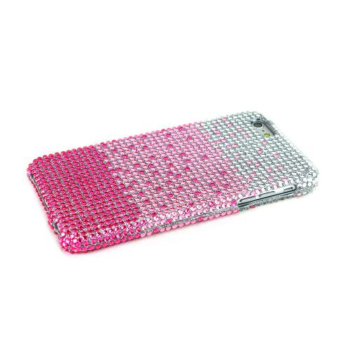 Made for Apple iPhone 6 PLUS/6S PLUS (5.5 inch) Bling Case,  [Hot Pink/ Baby Pink Waterfall]  Jeweled Fashion Shiny Sparkling Gems Hard Case Cover by Redshield