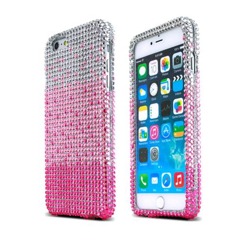 accessorygeeks com hot pink baby pink waterfall on silver gemsmade for apple iphone 6 plus 6s plus (5 5 inch) bling case, [hot pink baby pink waterfall] jeweled fashion shiny sparkling gems hard case cover by