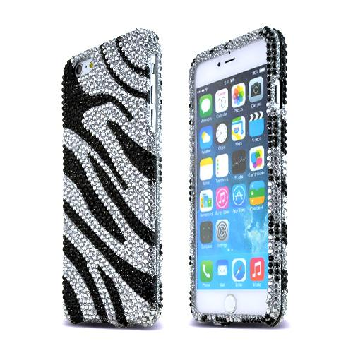 accessorygeeks com black zebra on silver bling gems apple iphone 6more views made for apple iphone 6 plus 6s