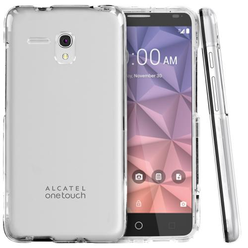 Alcatel OneTouch Fierce XL Case, [Clear] Slim & Protective Crystal Glossy Hard Plastic Case