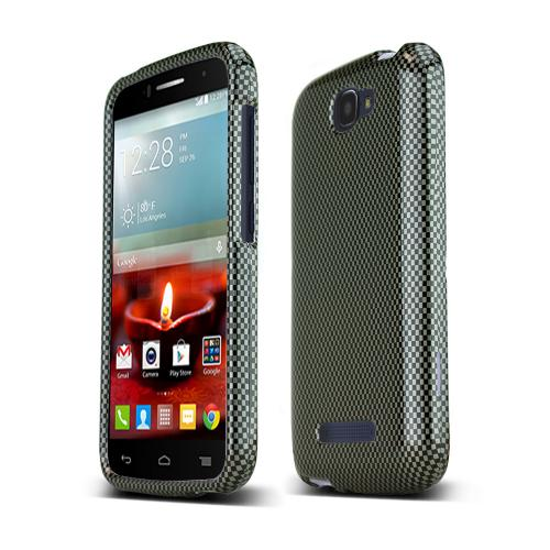 Alcatel One Touch Fierce 2 Slim Fit Hard Cover Case [Carbon Fiber Design]