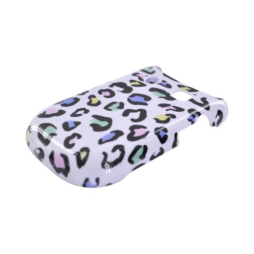 Blackberry Style 9670 Hard Case - Colorful Leopard on White