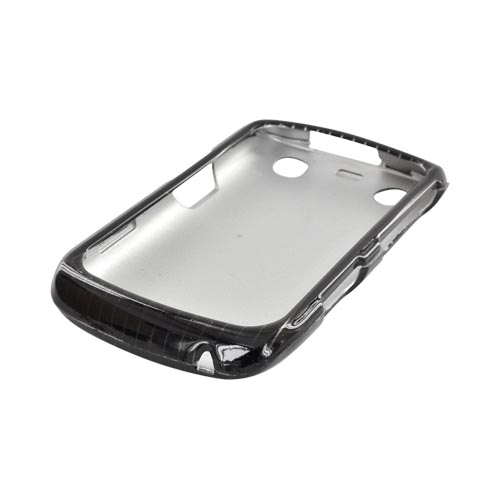 Blackberry Curve 9360/ Apollo Hard Case - Silver Lines on Black