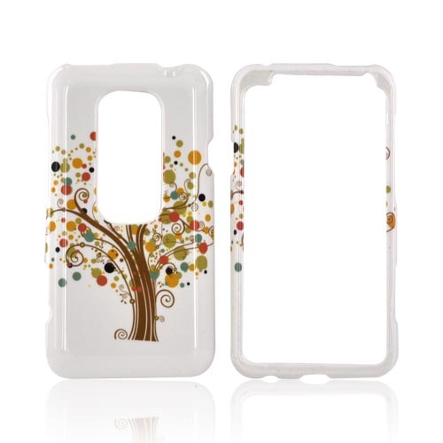 HTC EVO 3D Hard Case - Tree Design on White