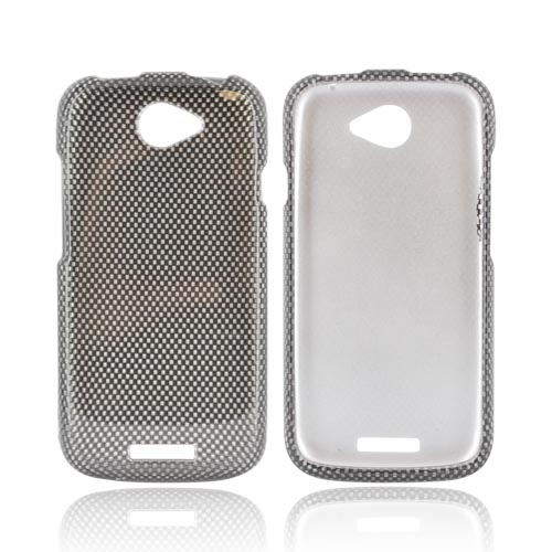 HTC One S Hard Case - Black/ Gray Carbon Fiber