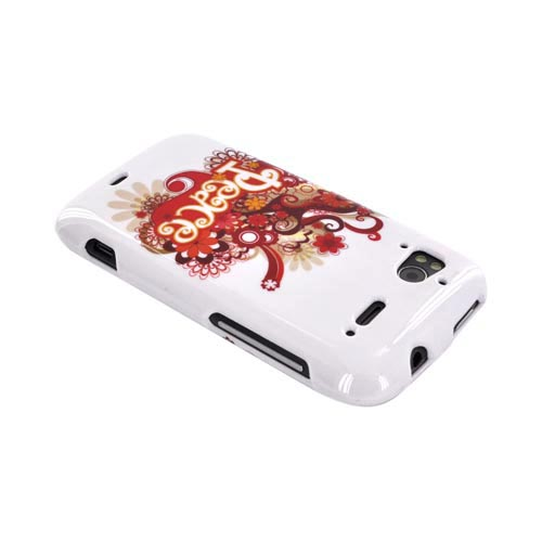 HTC Sensation 4G Hard Case - Red/ Yellow Peace on White