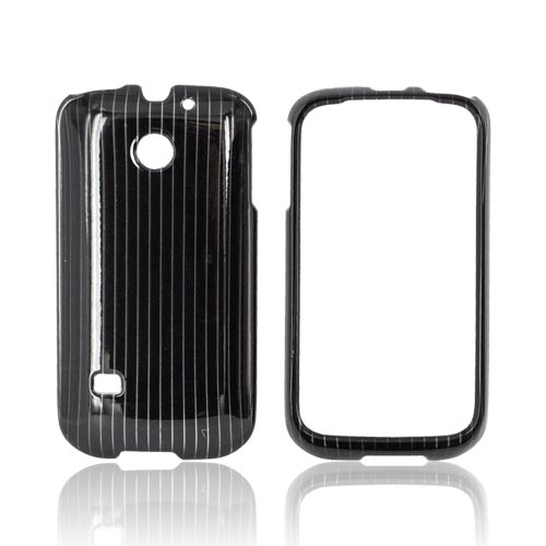 Huawei Ascend 2 M865 Hard Case - Silver Lines on Black
