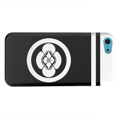 Geeks Designer Line (GDL) Apple iPhone 5C Matte Hard Back Cover - White Boke Kamon w/ Stripe