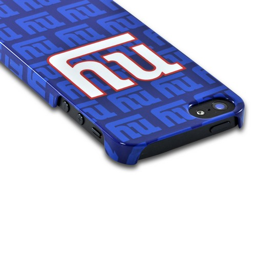 Apple iPhone SE / 5 / 5S Hard Case, NFL Licensed [New York Giants]  Slim & Protective Crystal Glossy Snap-on Hard Polycarbonate Plastic Case Cover