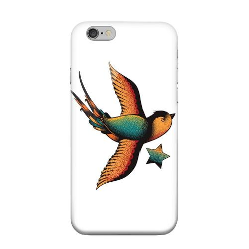Geeks Designer Line (GDL) Apple iPhone 6 Matte Hard Back Cover - Swallow Star on White