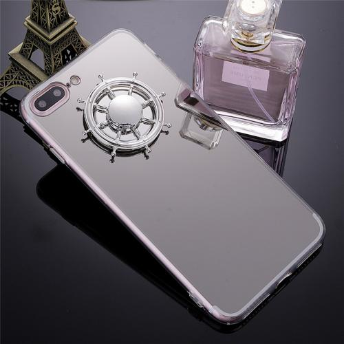 Made for Apple iPhone 7 / 6 / 6S Fidget Spinner iPhone Case,  [Silver Mirror Clear] Protective TPU Flexible Case Cover w/ Fidget Finger Spinner by Redshield