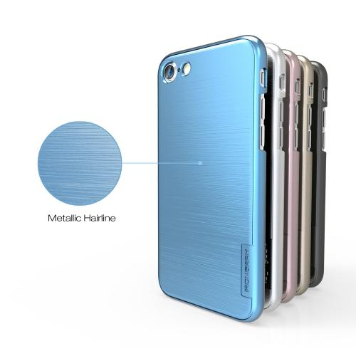 Made for Apple iPhone 8/7/6S/6 Case, IRONGRAM [Premium Series] Super Slim Fit Thin, Shock Resistant PC Metallic Brushed Hard Case [Coral Blue] by Irongram