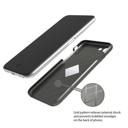 Apple iPhone 8/7/6S/6 Case, IRONGRAM [Premium Series] Super Slim Fit Thin, Shock Resistant PC Metallic Brushed Hard Case [Metal Gray]