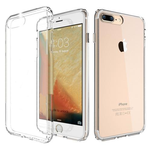 Made for Apple iPhone 8/7/6S/6 Plus Hard Case, Slim Protective Crystal Glossy Snap-on Hard Polycarbonate Plastic Case Cover [Clear] with Travel Wallet Phone Stand by Redshield