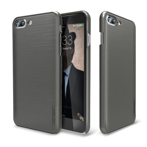 Made for Apple iPhone 8/7/6S/6 Plus Case, IRONGRAM [Premium Series] Super Slim Fit Thin, Shock Resistant PC Metallic Brushed Hard Case [Metal Gray] by Irongram