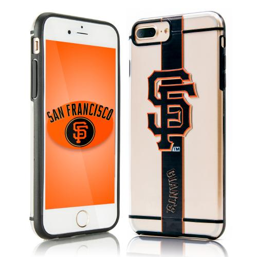 Apple iPhone 8 Plus / 7 Plus / 6S Plus / 6 Plus Sports Case, [San Francisco Giants] Hydroclear Ultra-Slim 3D UV Printed Textured Hard Back Case w/ TPU Border