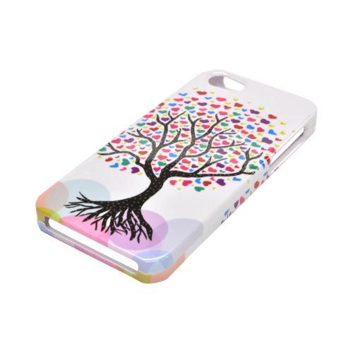 Made for Apple iPhone SE / 5 / 5S Hard Case,  [Love Tree on White]  Slim Protective Crystal Glossy Snap-on Hard Polycarbonate Plastic Case Cover by Redshield