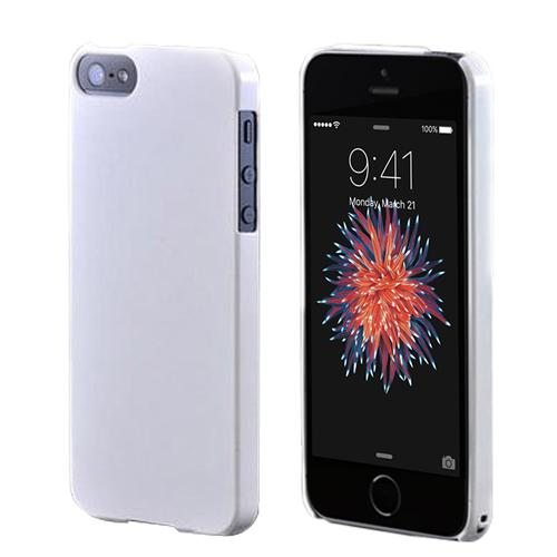 Apple iPhone SE/5/5S  Hard Case,  [Glossy White]  Slim & Protective Crystal Glossy Snap-on Hard Polycarbonate Plastic Case Cover