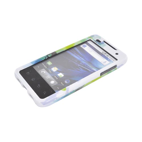 T-Mobile G2X Hard Case - Blue/ Green Water Lilies on White