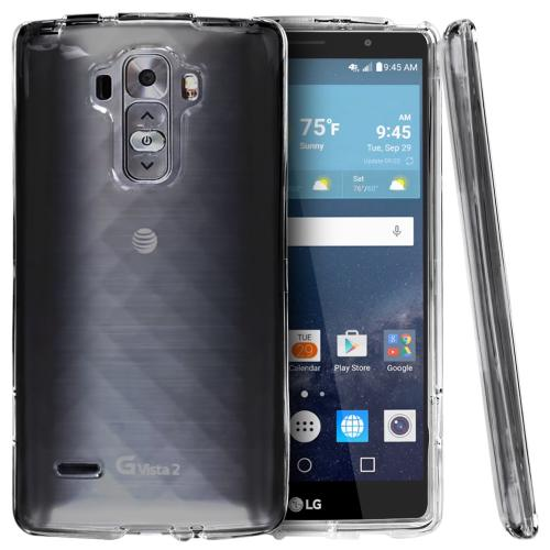 LG G Vista 2 Case, [Clear] Slim & Protective Crystal Glossy Snap-on Hard Polycarbonate Plastic Case Cover