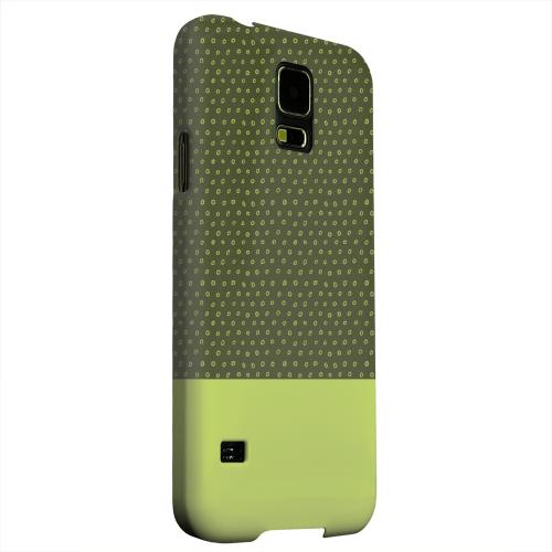 Geeks Designer Line (GDL) Samsung Galaxy S5 Matte Hard Back Cover - Little Circle Dots Tender Shoots