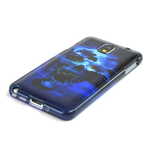 Blue Skull Hard Case for Samsung Galaxy Note 3