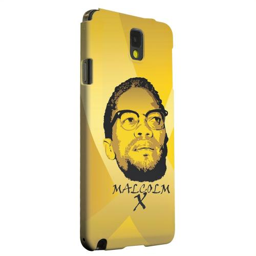 Geeks Designer Line (GDL) Samsung Galaxy Note 3 Matte Hard Back Cover - Malcolm X in the Middle on Yellow