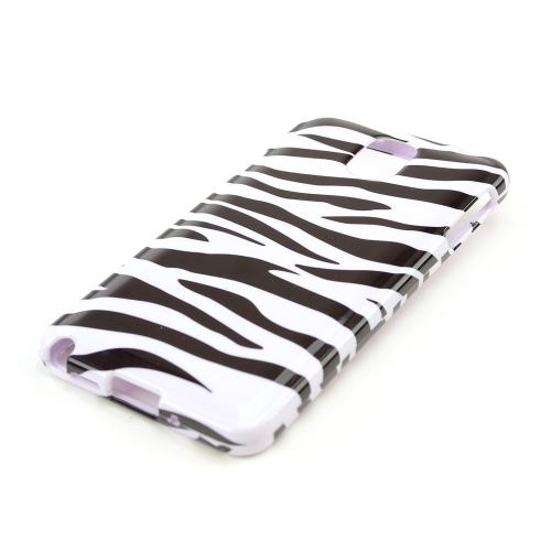 Black Zebra on White Hard Case for Samsung Galaxy Note 3