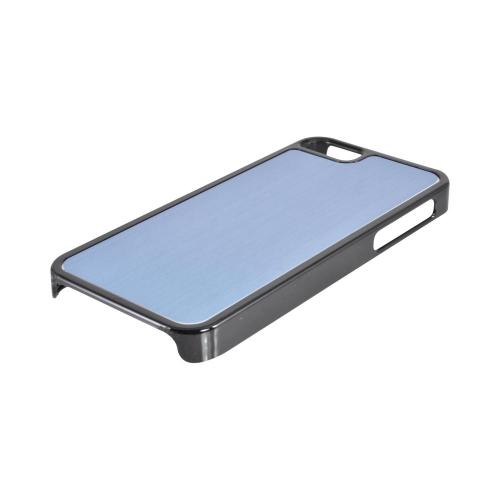Apple iPhone SE / 5 / 5S  Case,  [Blue/ Black]  Hard Back Cover w/ Aluminum Back Case