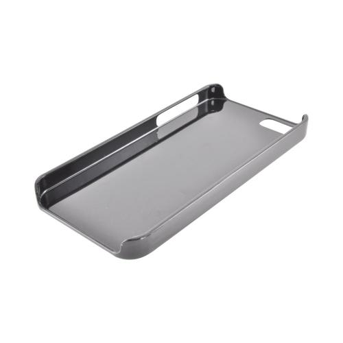 Made for Apple iPhone SE / 5 / 5S  Case,  [Silver/ Black]  Hard Back Cover w/ Aluminum Back Case by Redshield
