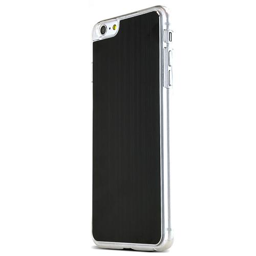 Made for Apple iPhone 6 PLUS/6S PLUS (5.5 inch) Black Polycarbonate Plastic Back with Aluminum Metal Border Case by Redshield