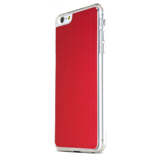 Red Polycarbonate Plastic Back with Aluminum Metal Border Case Made for Apple iPhone 6 PLUS/6S PLUS (5.5 inch)