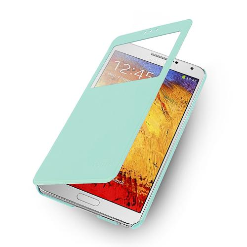 Mint  Windowed Flip Cover w/ Free Screen Protector for Samsung Galaxy Note 3