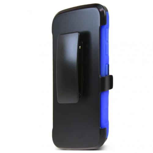 HTC Desire 526 Holster Case, [Blue] Supreme Protection Plastic on Silicone Dual Layer Hybrid Case