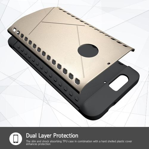 Huawei Google Nexus 6P Case, [Gold] Supreme Protection Plastic on Silicone Dual Layer Hybrid Case