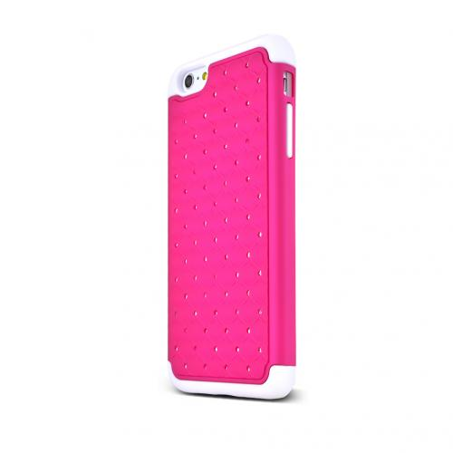 Made for Apple iPhone 6 PLUS/6S PLUS (5.5 inch) Bling Case,  [Hot Pink Bling]  Supreme Protection Plastic on Silicone Dual Layer Hybrid Case by Redshield